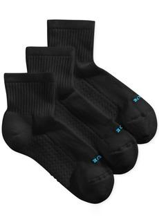Hue Women's Air Cushion Mini Crew 3 Pack Socks