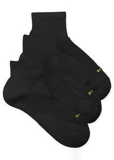 Hue Women's Air Cushion Quarter Top Socks 3 Pack