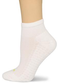 HUE Women's Air Cushion Quarter Top Sport Socks 3 Pair Pack  One-Size