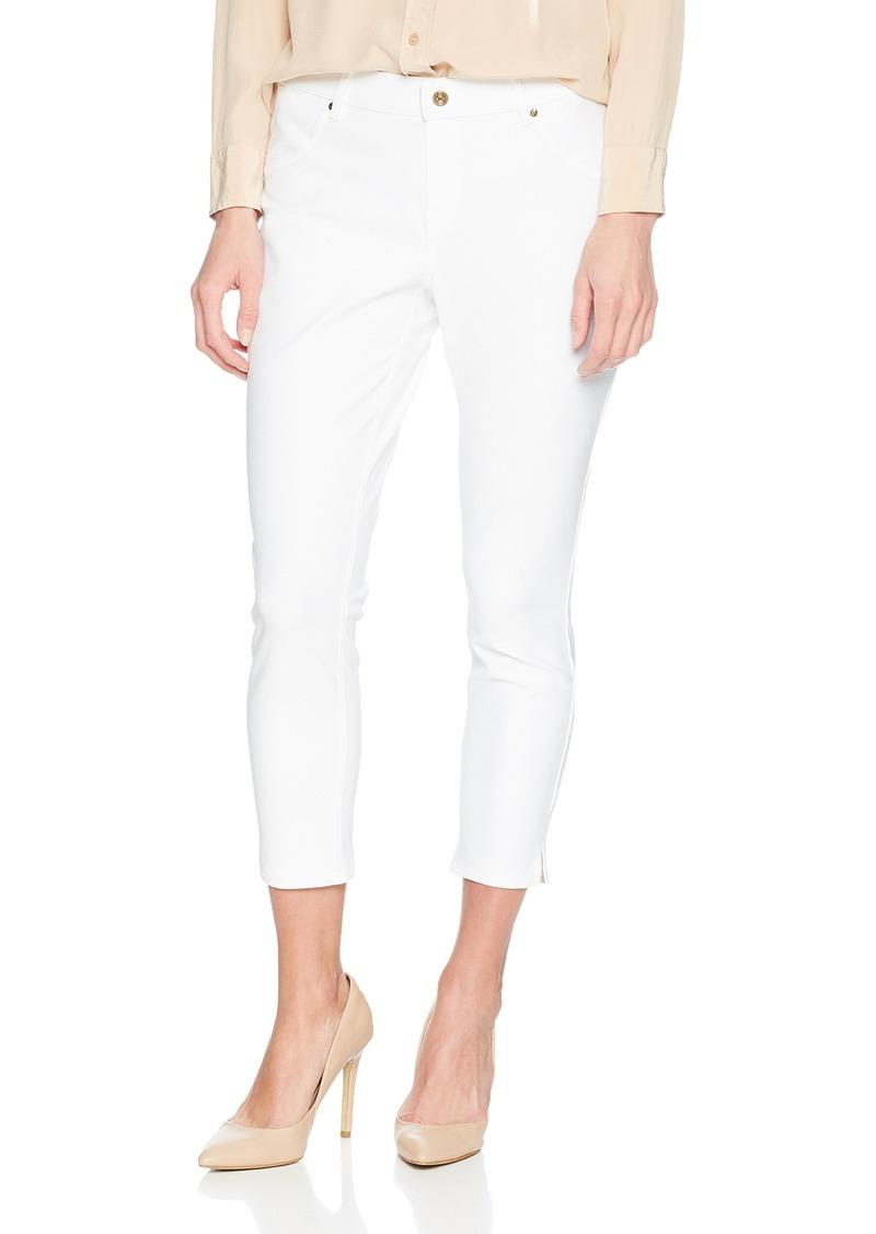1579cd9fe5eeb On Sale today! Hue HUE Women's Ankle Slit Essential Denim Capri ...