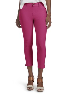 HUE Women's Ankle Slit Essential Denim Capri Leggings Carnation XS
