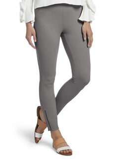f0b01d5feb7239 HUE Women's Ankle Zip Simply Stretch Twill Skimmer Leggings Ankle  Zip-Filament L