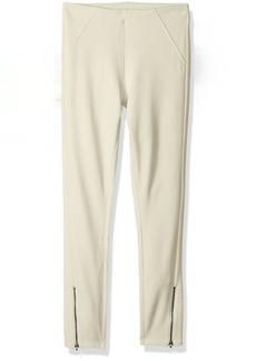 HUE Women's Ankle Zip Simply Stretch Twill Skimmer Leggings Ankle Zip-Sandbar S