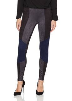 HUE Women's Blocked Microsuede Leggings  Extra Large
