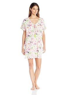 HUE Women's Butterfly Bouquet Short Nightgown