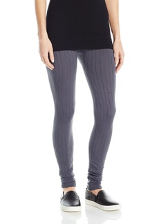 HUE Women's Cable Brushed Seamless Leggings  L/XL
