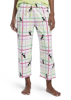 HUE Women's Capri Printed Knit Pajama Sleep Pant