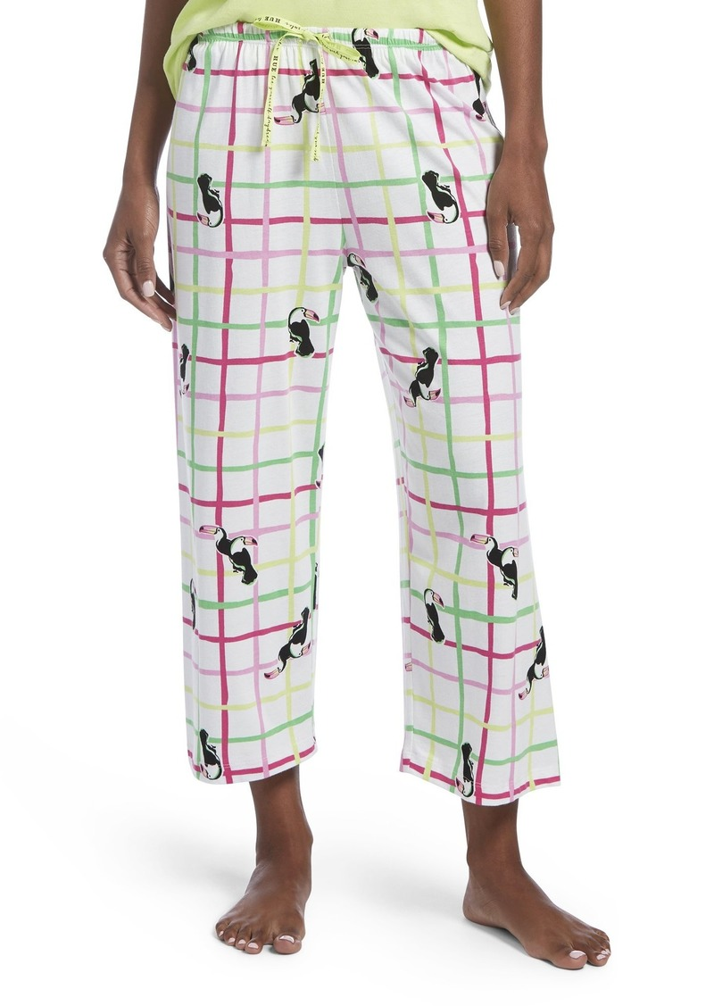 HUE Women's Capri Printed Knit Pajama Sleep Pant