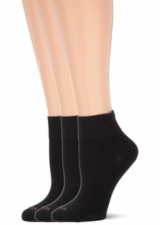 HUE Women's Cotton Body Crew Socks 3 Pair Pack