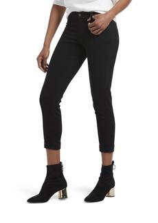 HUE Women's Cuffed Skinny Chino Skimmer Leggings ( L)