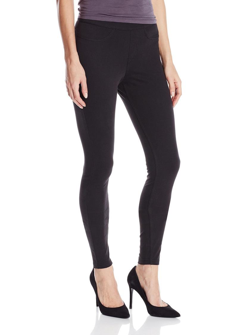 HUE Women's Curvy Fit Denim Jean Leggings  XL
