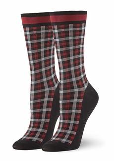 HUE Women's Fashion Crew Socks  one size