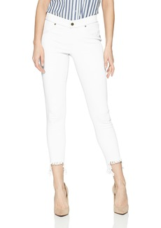 HUE Women's Fashion Denim Jean Skimmer Leggings Assorted Hi-Low Hem - White