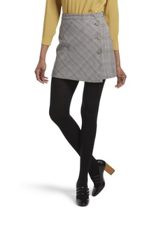 HUE Women's Fashion Sweater Tights with Non Control Top Assorted  M/L