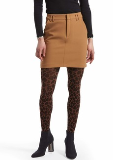 HUE Women's Fashion Tights Non-Control Top saddle brown S/M