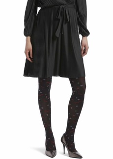 HUE Women's Fashion Tights with Control Top black