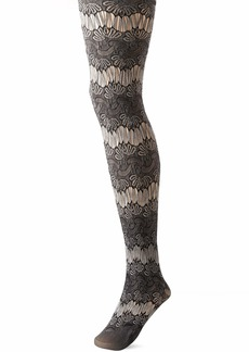 HUE Women's Fashion Tights with Non Control Top Assorted  S/M