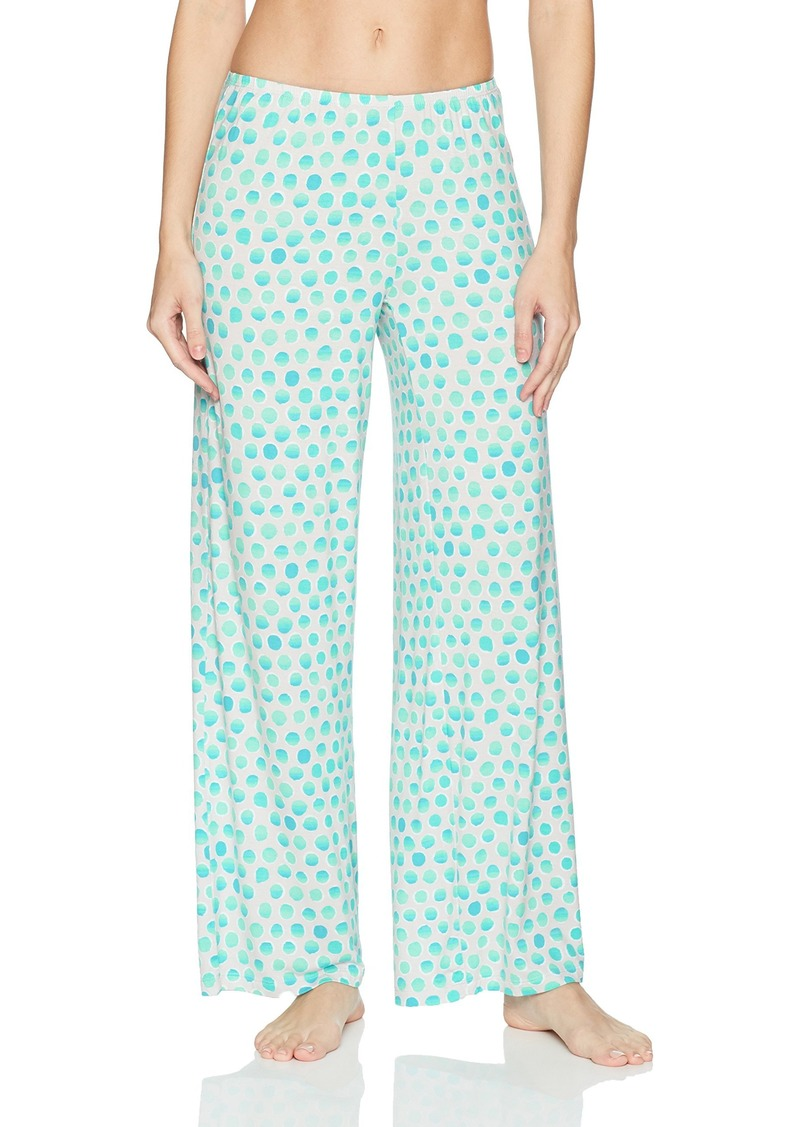 HUE Women's Fit and Flare Fashion Print Long Pajama Pant