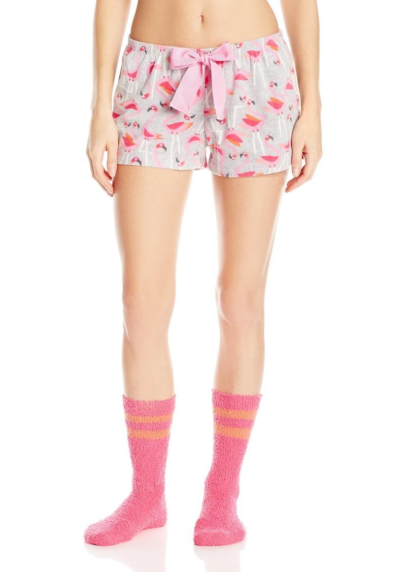 HUE Women's Flamingo Shorty Boxer Sock Pajama Set
