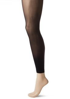 HUE Women's Flat-tering Fit Opaque Footless Tights black