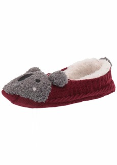 HUE Women's Fluffy Slipper Shue Sock with Grippers