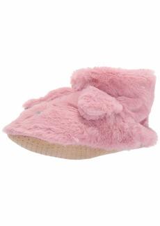 HUE Women's Fluffy Slipper Shue Sock with Grippers femme fog