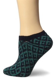 HUE Women's Geo Boot No Show Sock
