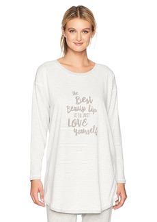 HUE Women's Graphic Long Sleeve Sleepshirt