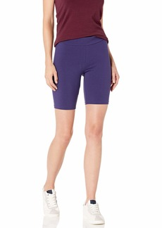 HUE Women's Hi Waist Blackout Cotton Bike Shorts