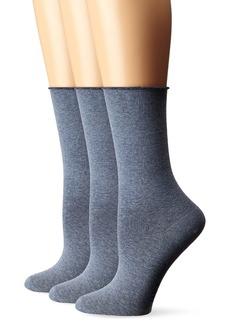HUE Women's Jeans Sock (Pack of 3)