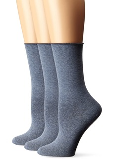 HUE Women's Jeans Socks (Pack of 3)