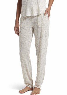 HUE Women's Knit Long Pajama Sleep Pant with Cuffs Off White-Space Dye