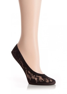 HUE Women's Lace Classic Perfect Edge Liner Sock