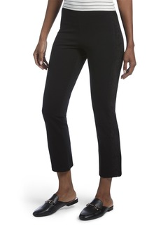 HUE Women's Lace Tuxedo Cropped Treggings black M