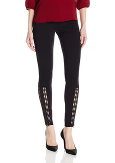 HUE Women's Laser Cut Panels out Leggings  M