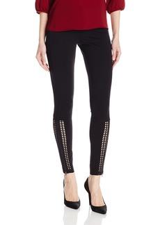 HUE Women's Laser Cut Panels out Leggings  XS