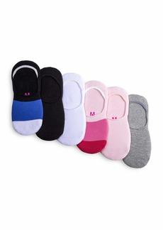 HUE Women's Low Cut Sneaker Liner Socks with Cushion