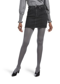 HUE Women's Luster Tights with Control Top steel