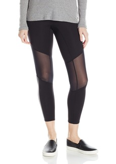 HUE Women's Made to Move Mesh Knee Active Shaping Skimmer Leggings