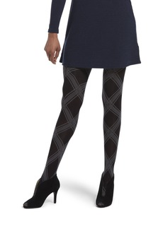 HUE Women's Made to Move Shaping Tights Assorted bias plaid/black