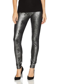 HUE Women's Metallic Microsuede Leggings