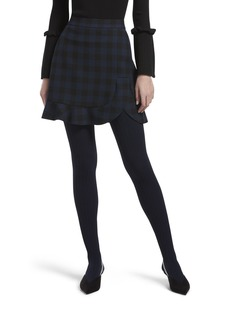 HUE Women's Micro Cable Tights with Control Top navy L/XL