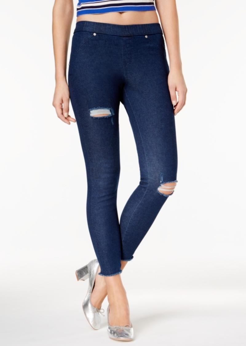 Hue Women's Original Denim Ripped Knee Leggings, Created for Macy's