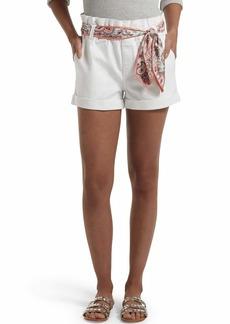 HUE Women's Paperbag Ultra Soft Denim High Waist Shorts  Extra Small