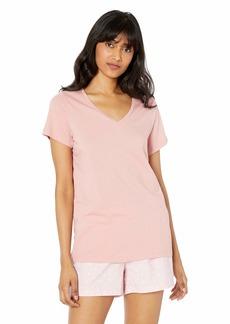 HUE Women's Plus Short Sleeve V-Neck Sleep Tee  3X