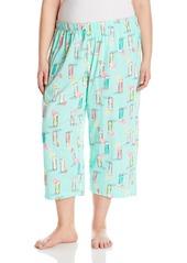 HUE Women's Plus Size Berrylicious Capri  2X