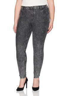 Hue denim leggings wide waistband