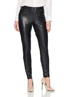 HUE Women's Plus Size Leatherette Leggings