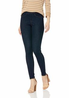 HUE Women's Plus Size Original Denim Jean Leggings midnight rinse