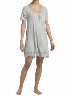 HUE Women's Plus Size SleepWell with TempTech Short Sleeve Nightgown Sleepshirt